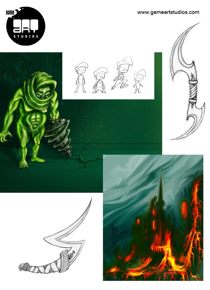 Character Design Artist Portfolio : Portfolio game art studios artwork studio d modeling
